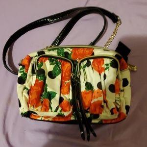 Betsey Johnson crossbody bag rose print